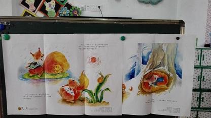 幼儿园大班语言活动秋天的歌教学挂图